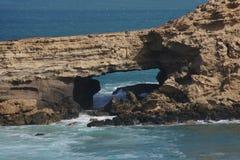 被削去的La海岸 库存图片