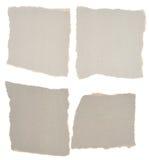 被剥去的收集灰色纸部分 免版税库存照片