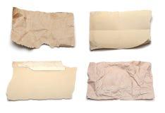被剥去的收集纸部分 免版税库存照片