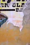 被剥去的海报 库存照片