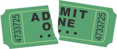 被剥去的票 免版税库存照片