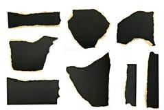 被剥去的纸部分 免版税库存照片