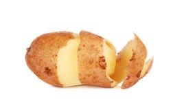 被剥皮的土豆皮螺旋 库存图片