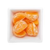 被剥皮的橘子 免版税库存图片