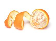 被剥皮的橘栾果 库存照片