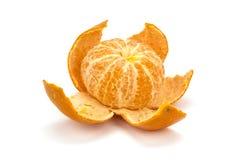 被剥皮的橙色甜普通话 库存照片