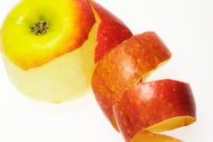 被剥皮的苹果 库存照片