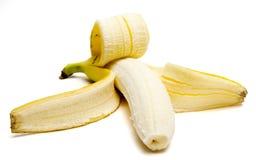被剥皮的香蕉 免版税图库摄影