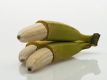 被剥皮的香蕉 图库摄影