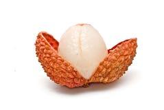 被剥皮的lychee 免版税库存图片