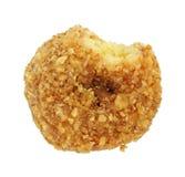被剥落的被咬住的椰子多福饼 免版税库存照片