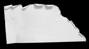 被剥去的和被撕毁的纸 免版税库存照片