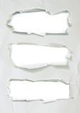 被剥去的纸和被撕毁的纸 免版税图库摄影