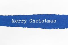 被剥去的纸-圣诞节 图库摄影
