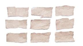 被剥去的纸 免版税库存图片