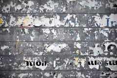 被剥离的路旁广告牌 免版税库存图片