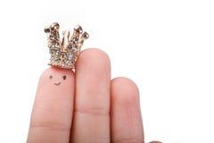 被加冠的手指技巧 免版税图库摄影