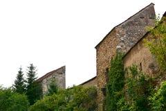 被加强的中世纪撒克逊人的教会在Cristian 库存图片