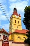 被加强的中世纪撒克逊人的教会在Cristian 免版税库存照片
