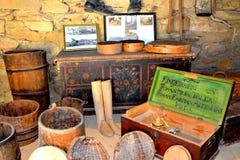 被加强的中世纪撒克逊人的教会的博物馆在Crit (克洛伊茨),特兰西瓦尼亚 免版税库存照片