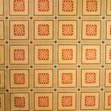 被加强的中世纪撒克逊人的教会的天花板在Cinsor-Kleinschenk,锡比乌县 免版税库存图片