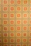 被加强的中世纪撒克逊人的教会的天花板在Cinsor-Kleinschenk,锡比乌县 图库摄影