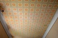 被加强的中世纪撒克逊人的教会的Ceilling在Cinsor-Kleinschenk,锡比乌县 免版税库存图片