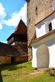 被加强的中世纪教会在村庄Viscri,特兰西瓦尼亚 免版税库存图片