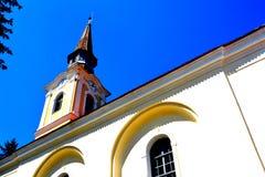 被加强的中世纪教会在Crit (克洛伊茨),特兰西瓦尼亚 免版税图库摄影