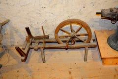 被加强的中世纪教会的博物馆在村庄Viscri,特兰西瓦尼亚 库存图片