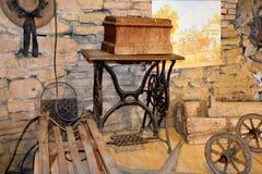 被加强的中世纪教会的博物馆在Crit (克洛伊茨),特兰西瓦尼亚 库存图片