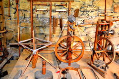 被加强的中世纪教会的博物馆在Crit (克洛伊茨),特兰西瓦尼亚 免版税图库摄影