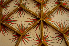 被加强的中世纪教会Biertan,特兰西瓦尼亚的天花板 图库摄影