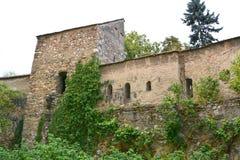 被加强的中世纪教会Cristian,特兰西瓦尼亚的庭院 图库摄影
