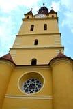 被加强的中世纪教会Cristian,特兰西瓦尼亚的教会 库存照片