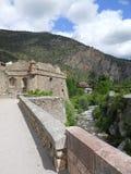 被加强的城堡在法国 免版税库存照片