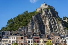 被加强的城堡在迪南,比利时 库存照片