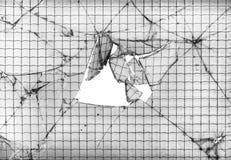 被加强的打破的玻璃背景 免版税图库摄影
