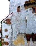 被加强的撒克逊人的中世纪教会哈曼,特兰西瓦尼亚,罗马尼亚 库存图片