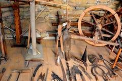 被加强的撒克逊人的中世纪教会的博物馆在村庄Crit -克洛伊茨,特兰西瓦尼亚 免版税库存图片