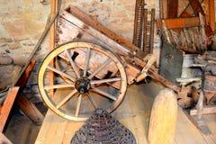 被加强的撒克逊人的中世纪教会的博物馆在村庄Crit -克洛伊茨,特兰西瓦尼亚 库存照片