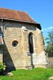 被加强的撒克逊人的教会Malancrav,特兰西瓦尼亚 库存照片