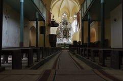 被加强的教会里面 免版税库存图片
