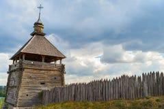 被加强的解决乌克兰哥萨克人16-18个世纪 免版税库存照片
