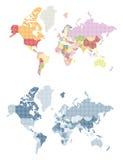 被加点的世界地图 库存图片