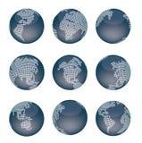 被加点的世界地图 图库摄影