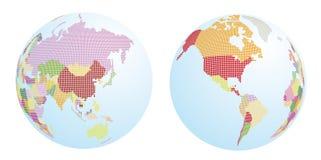 被加点的世界地图 库存照片