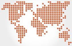 被加点的世界地图 向量例证