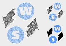 被加点的传染媒介字母表字符交换象 向量例证