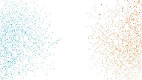 被加点的蓝色和橙色HD背景,小点,指向另外大小,标度 设计网横幅的,海报,卡片, wallpape元素 图库摄影